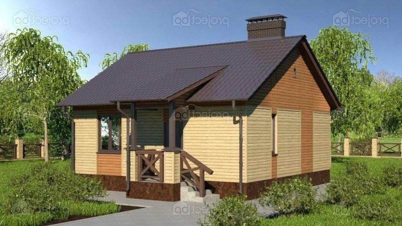 Проект одноэтажного дома с обшивкой сайдингом 47-A-Z